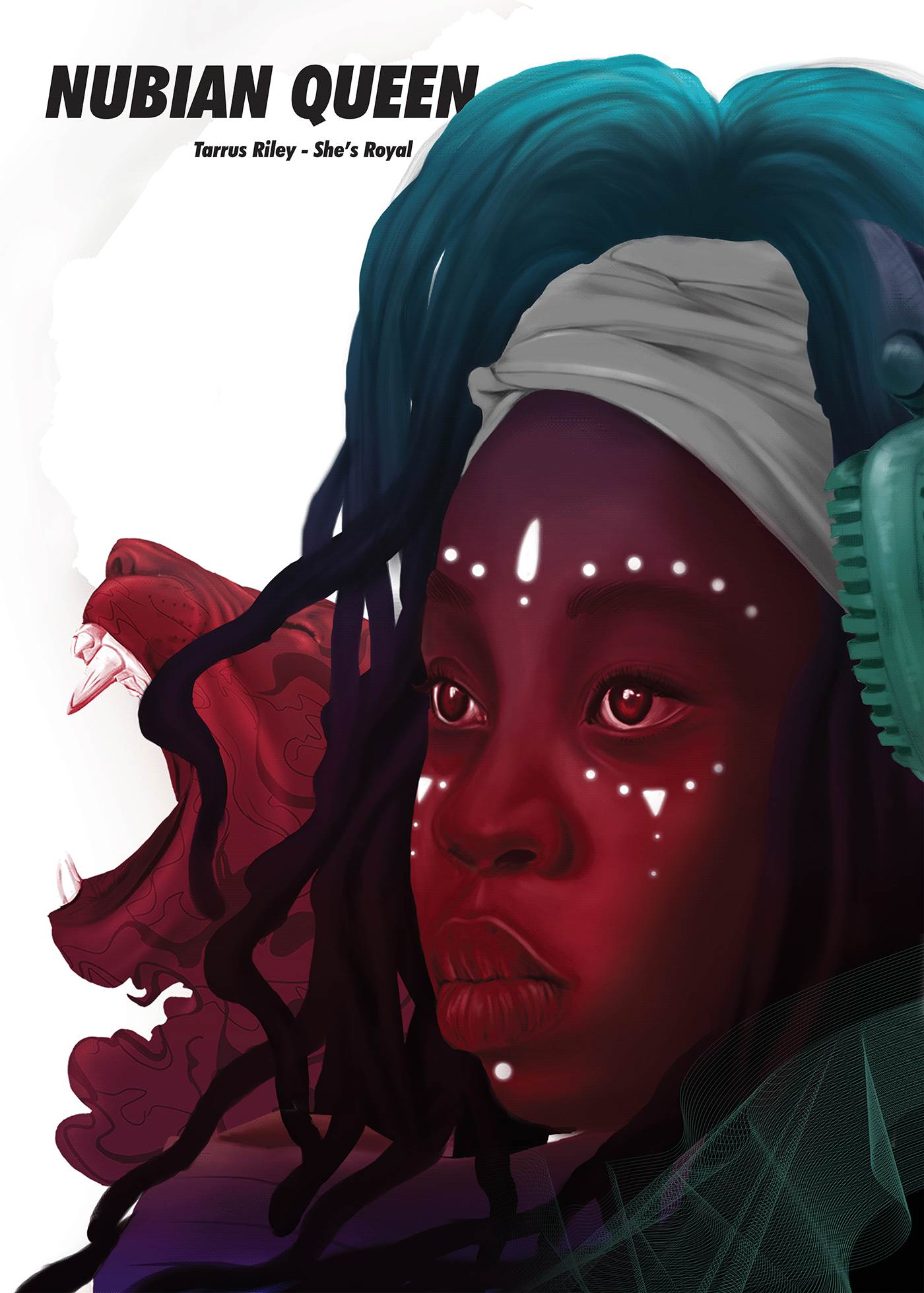 Nubian Queen artwork illustrated by Kenneil Smith
