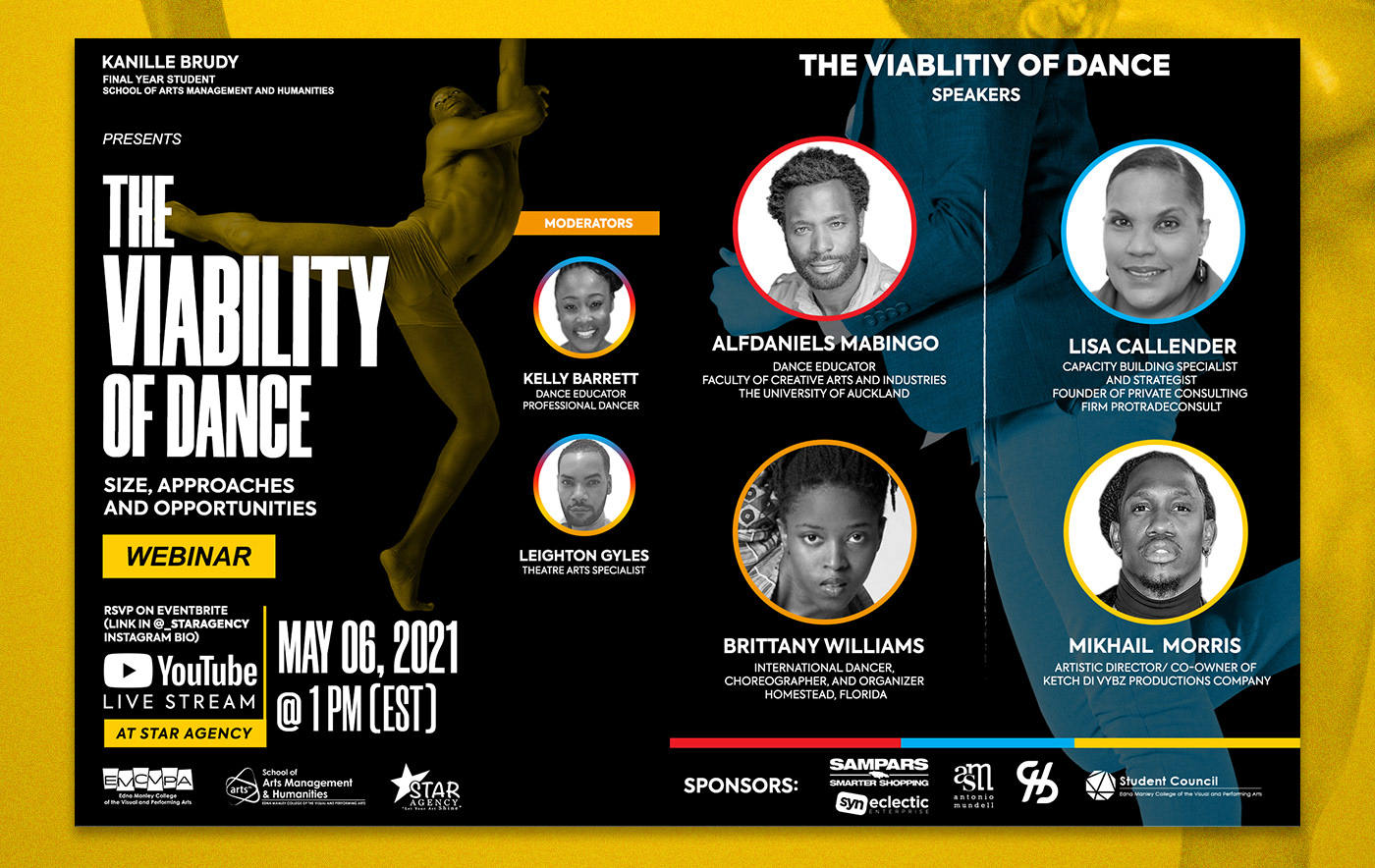 The Viability of Dance webinar artwork by Kenneil Smith