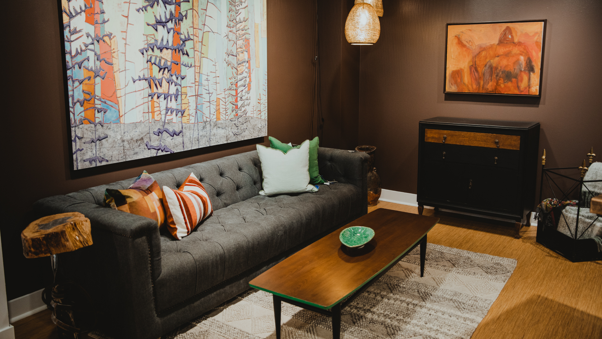 warm living room cover photo
