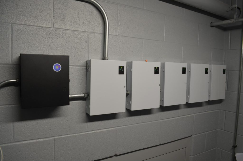 Security Cameras and Key Card System