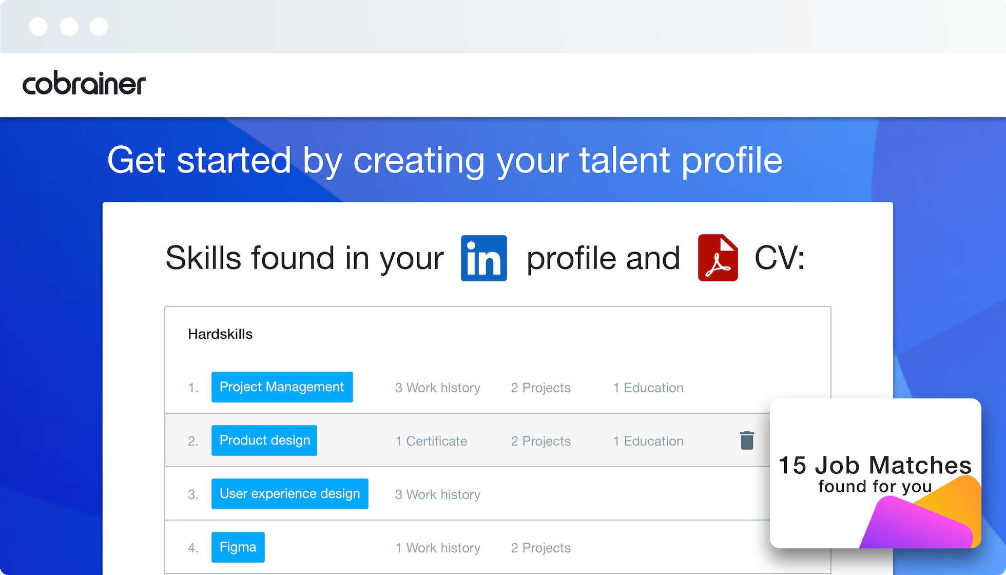 Cobrainer Screenshot User Profiles