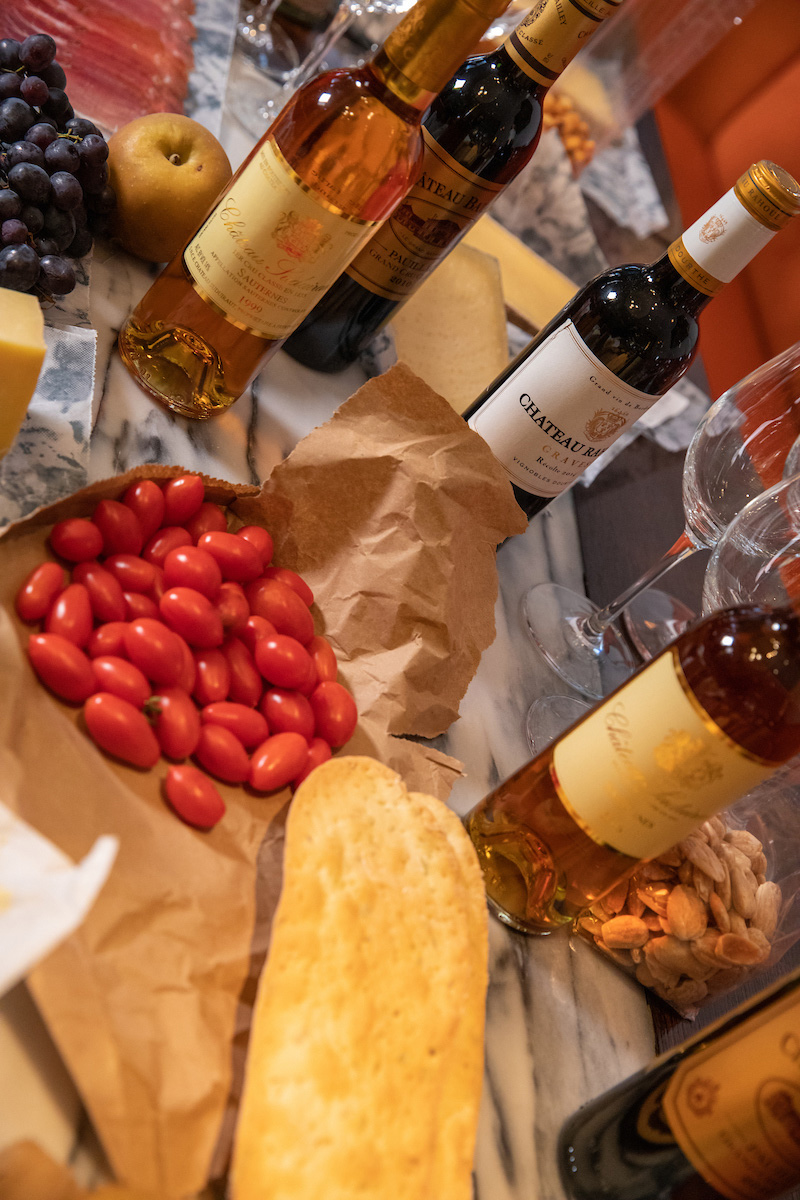 Wine and cheese assortment