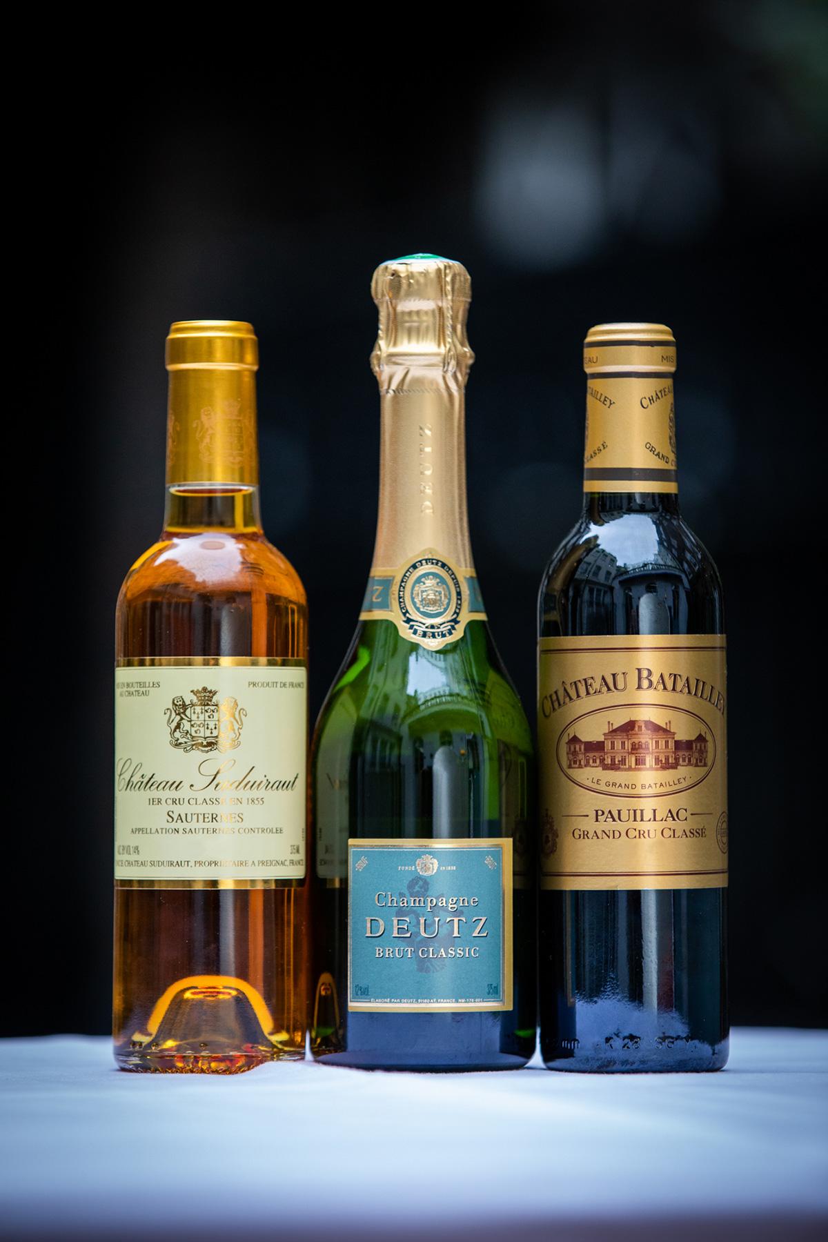 Deutz, Champagne NV, Batailley 2014, Suduiraut 2008