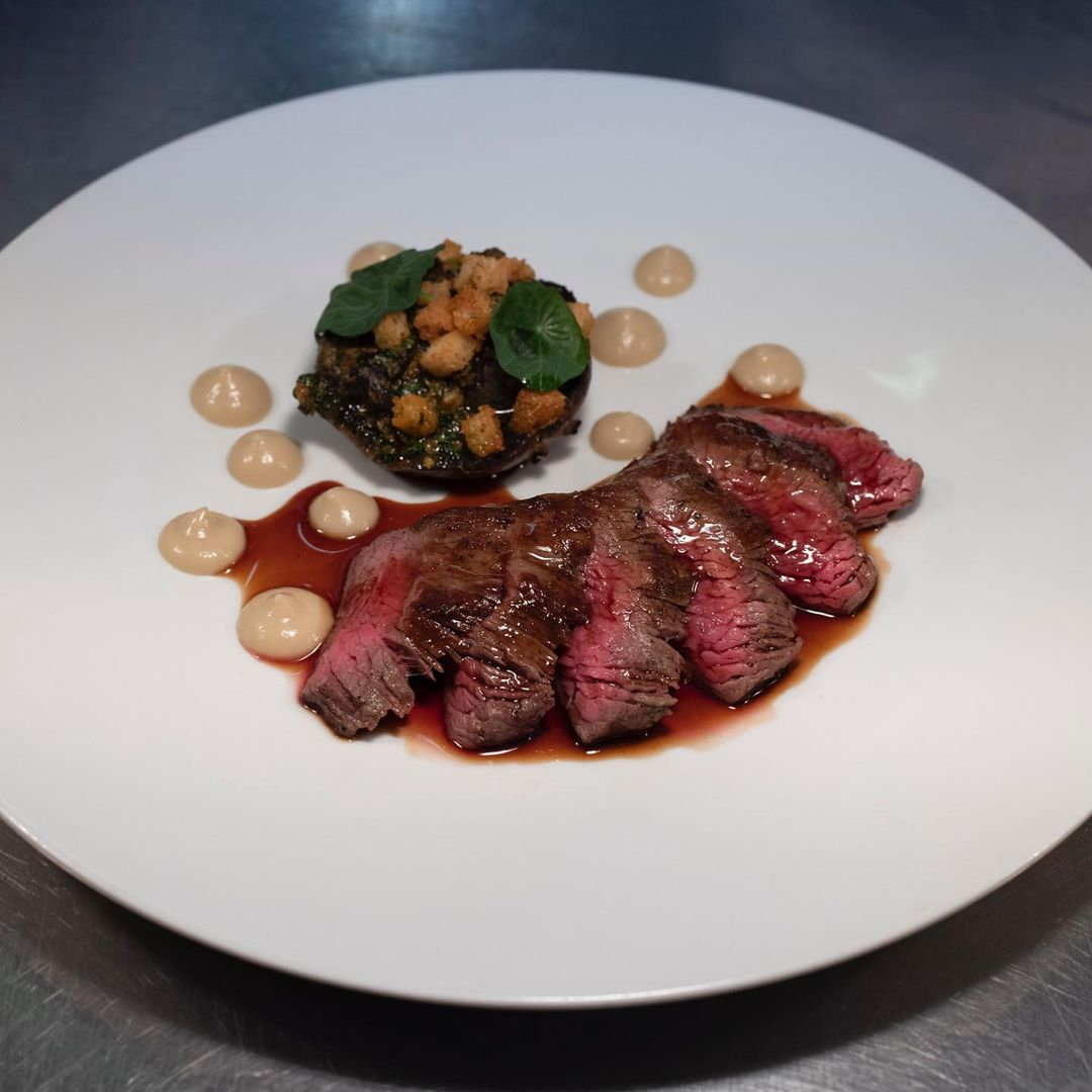 Under blade Belted Galloway served with snails