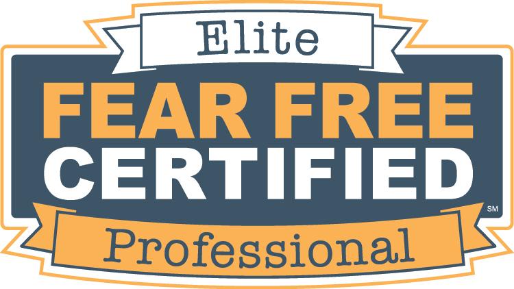 Certified Fear Free Elite Professional.