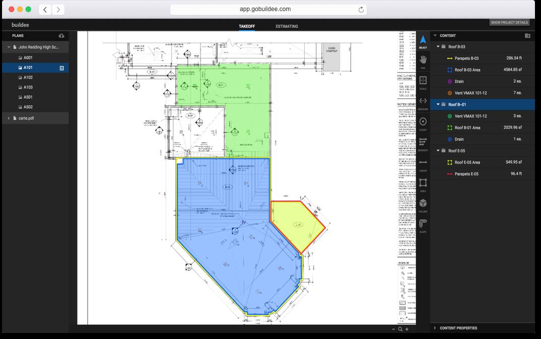 Buildee Blueprint Takeoff Image