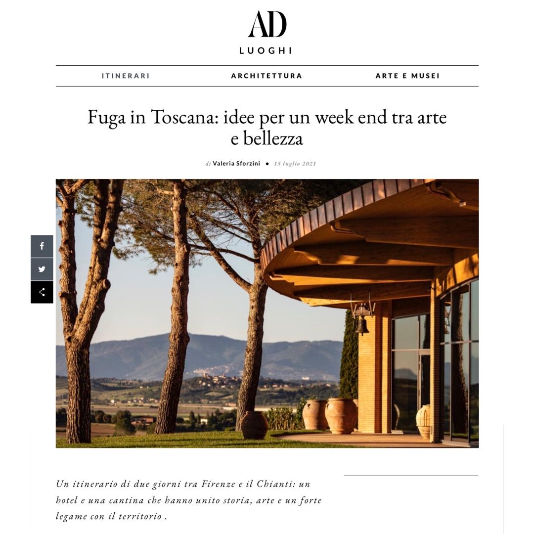 AD Italia: Fuga in Toscana: un week end tra arte e bellezza