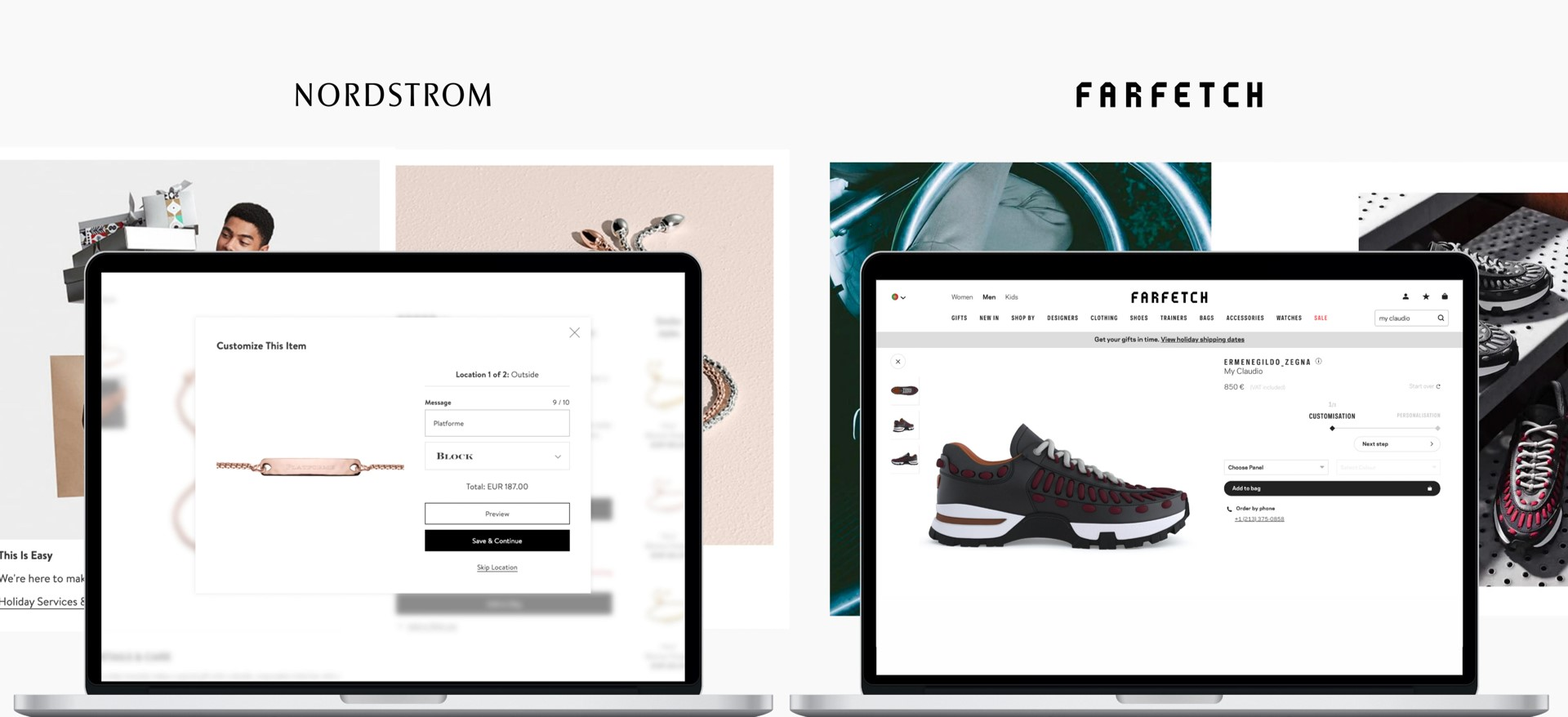 PlatformE personalization technology on Nordstrom and Farfetch