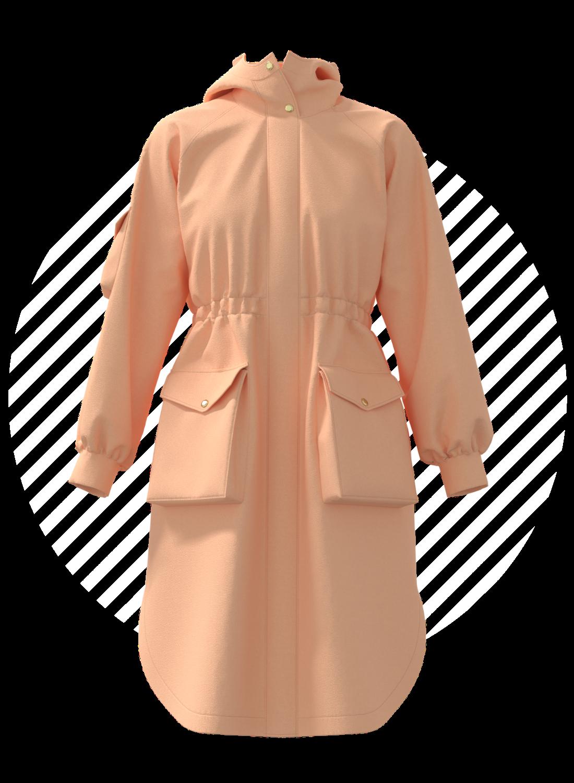 3D jacket fashion digital product creation