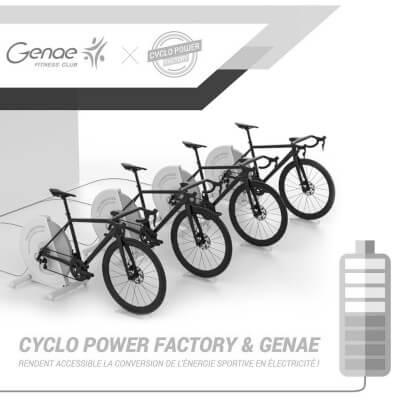 Genae Fitness Club et Cyclo Power Factory deviennent partenaires