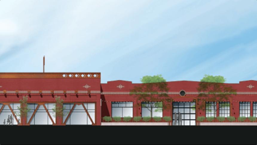 A building rendering
