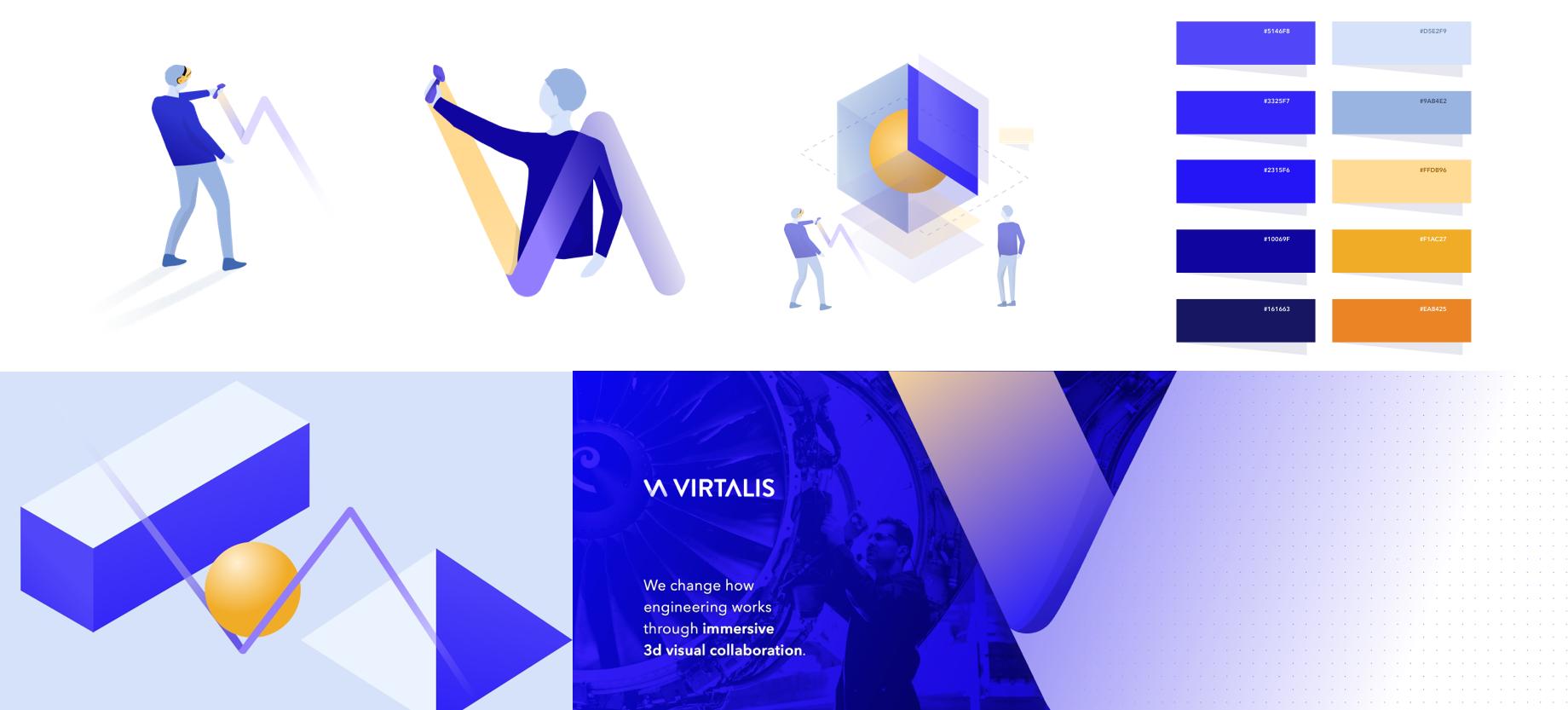 Design snapshots of the Virtalis Branding