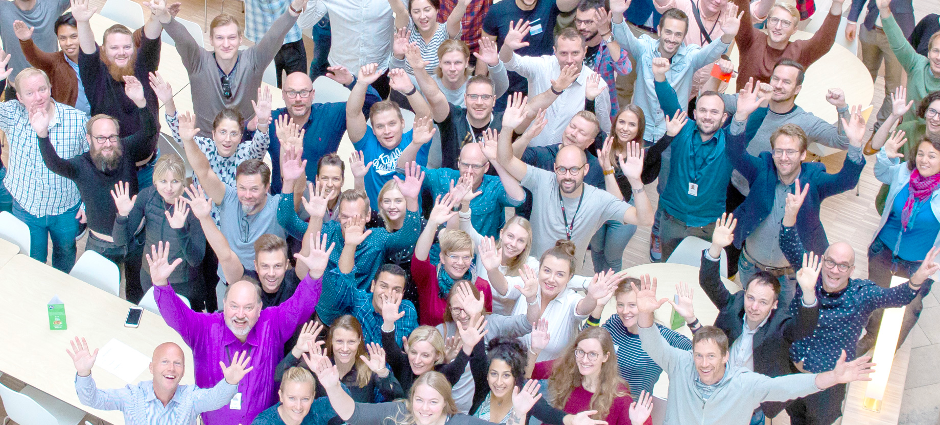 Picture from above during the UX Days at Visma