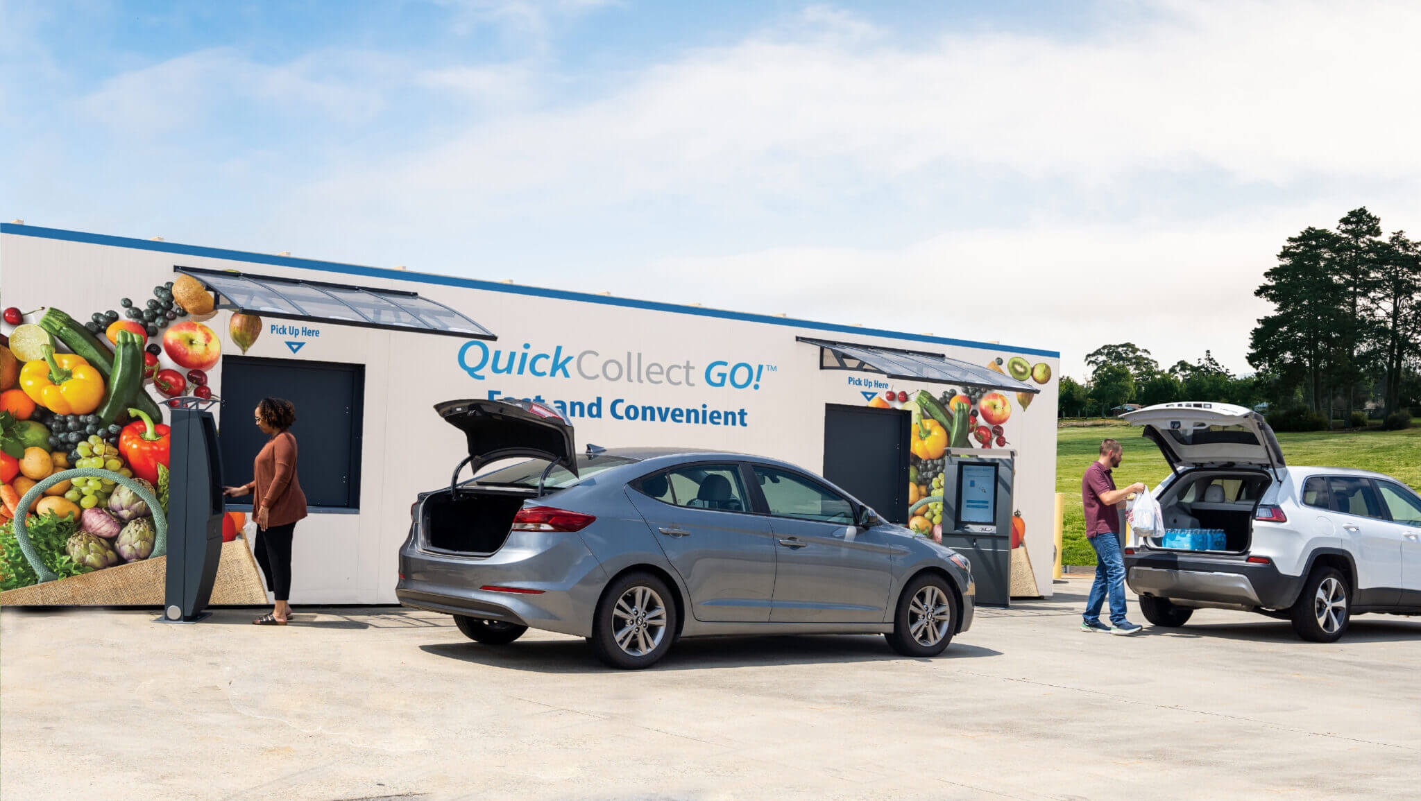 QuiCkCollect XL Grocery Drive Up Kiosk