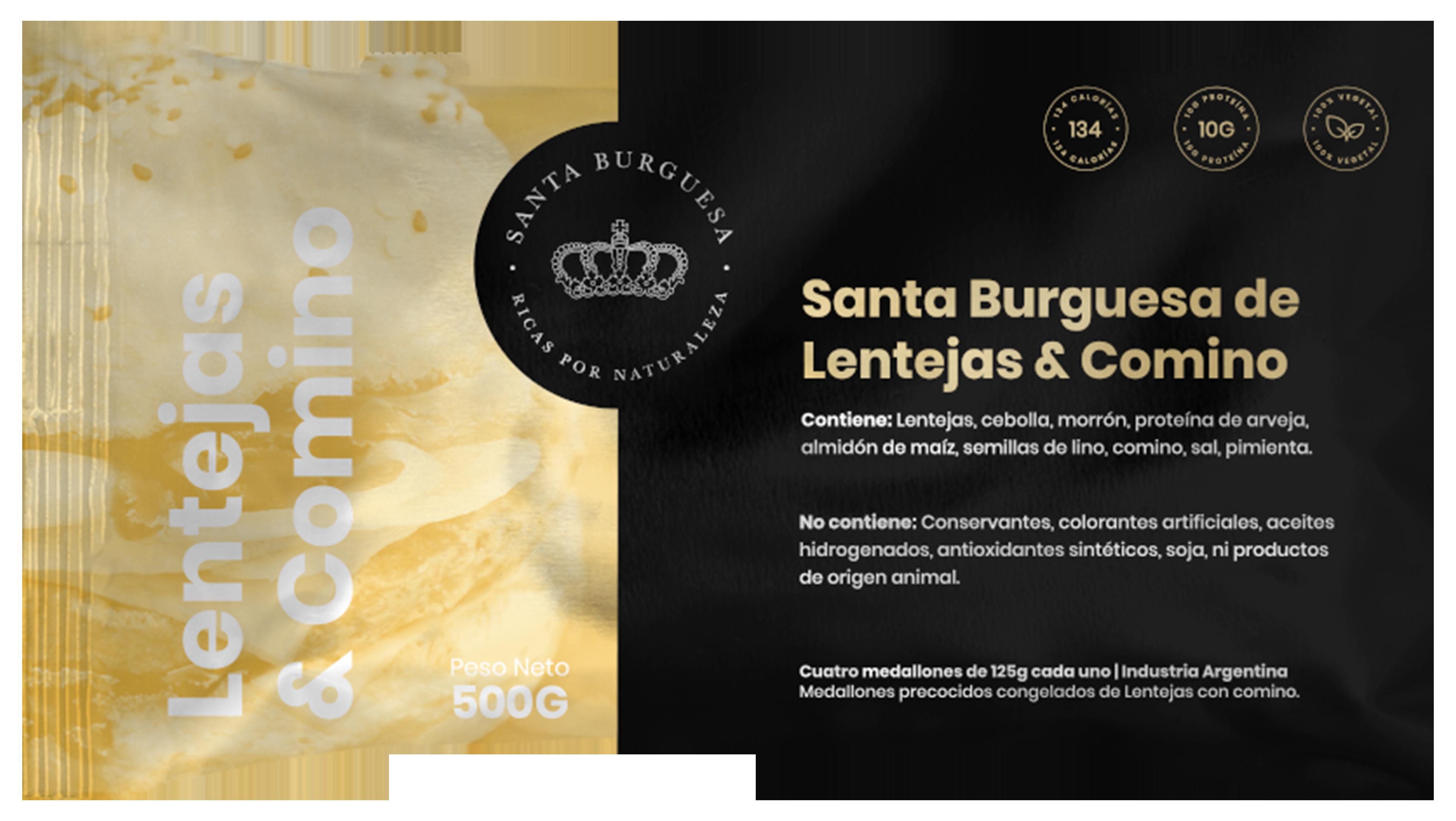 Santa Burguesa de Lentejas & Comino