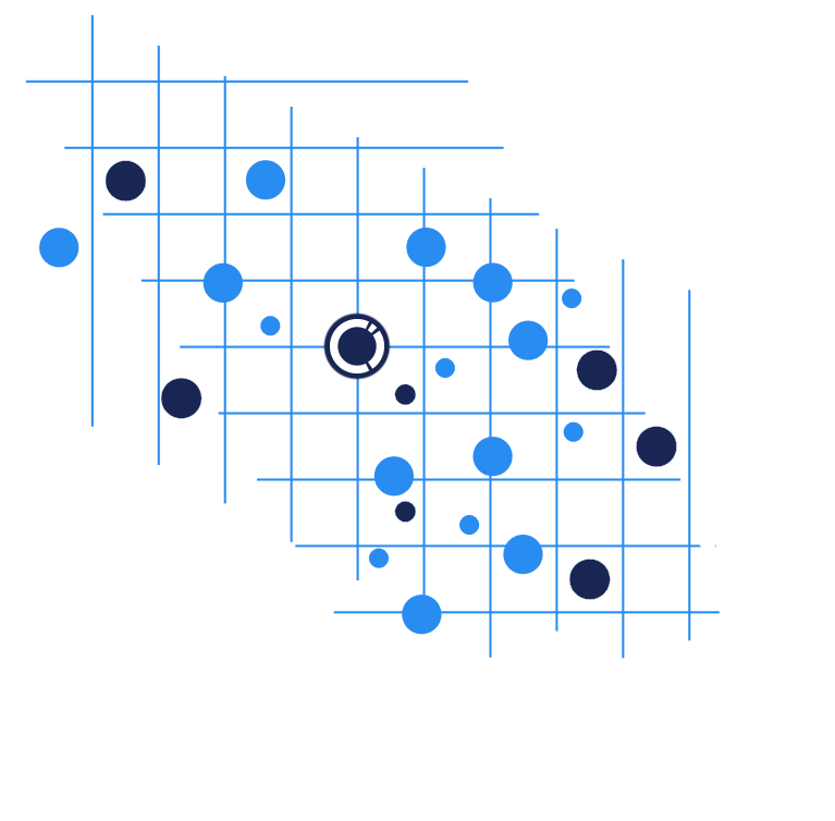Blue dotted grid