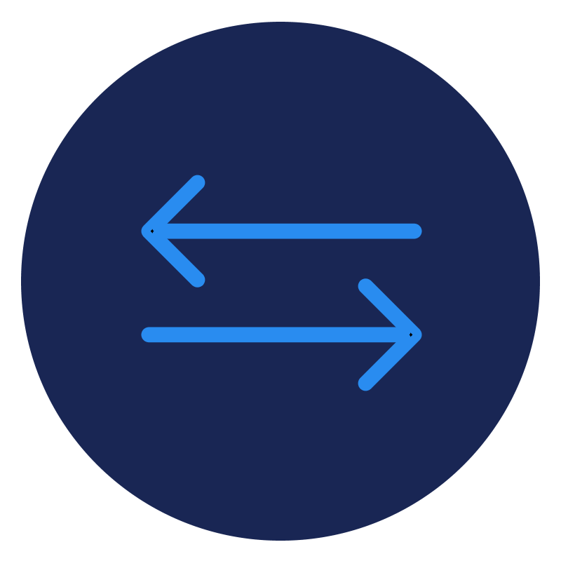 2 directional arrow icon