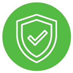 A cybersecurity shield with a checkbox
