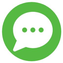 A chat bubble icon