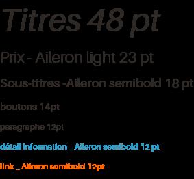 typographies utilisées
