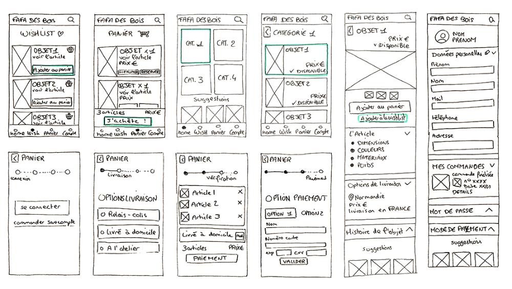 sketch de l'application