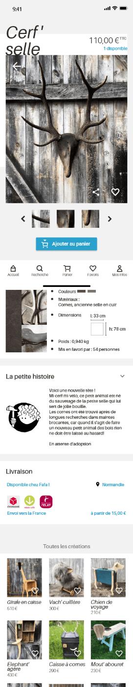 screen fiche produit