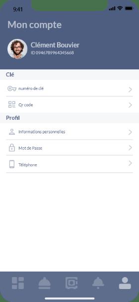 screen application compte