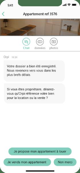 Screen chatbot