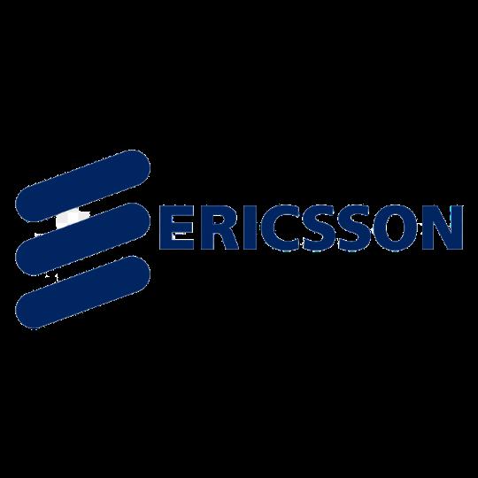 Ericsson logo in blue