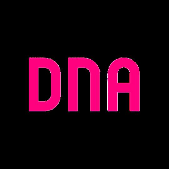 DNA Plc logo in pink