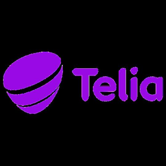 Telia logo in purple