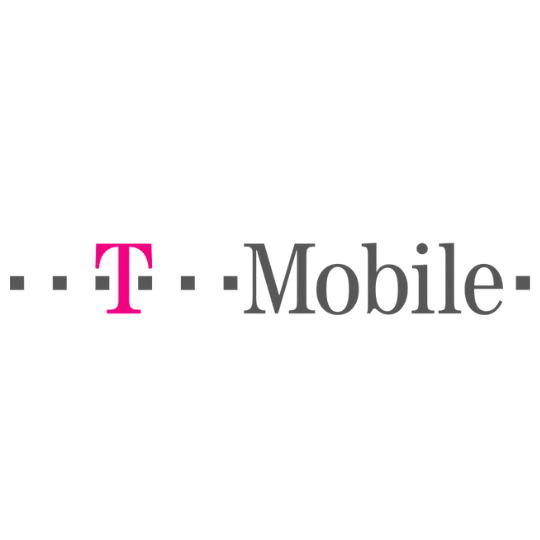 T-Mobile logo in pink and gray