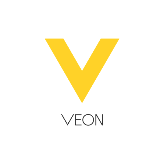 VEON logo in yellow and gray