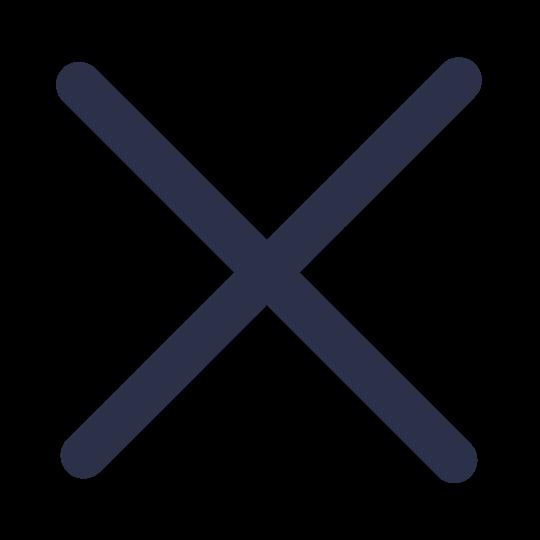 Close icon in blue