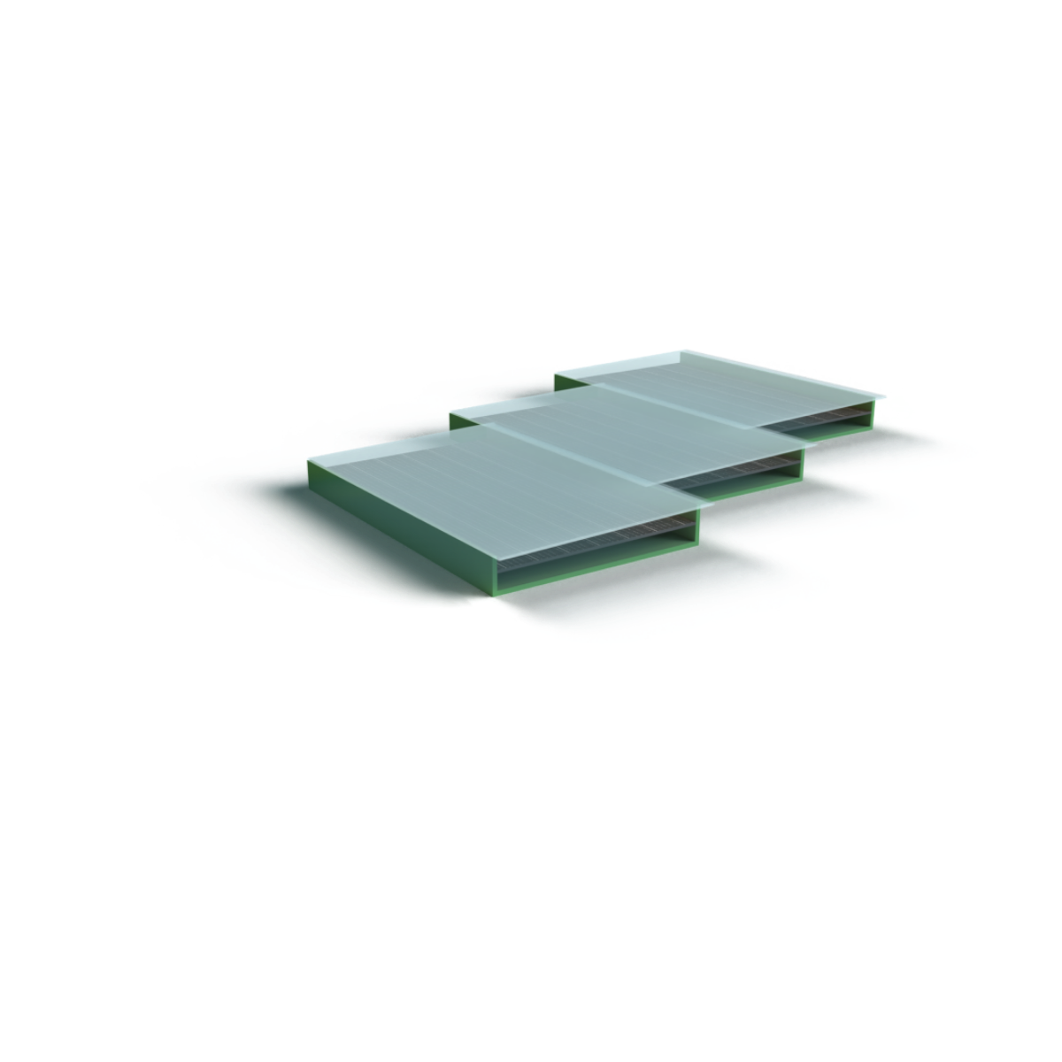 3-D Model of a solar roof tile