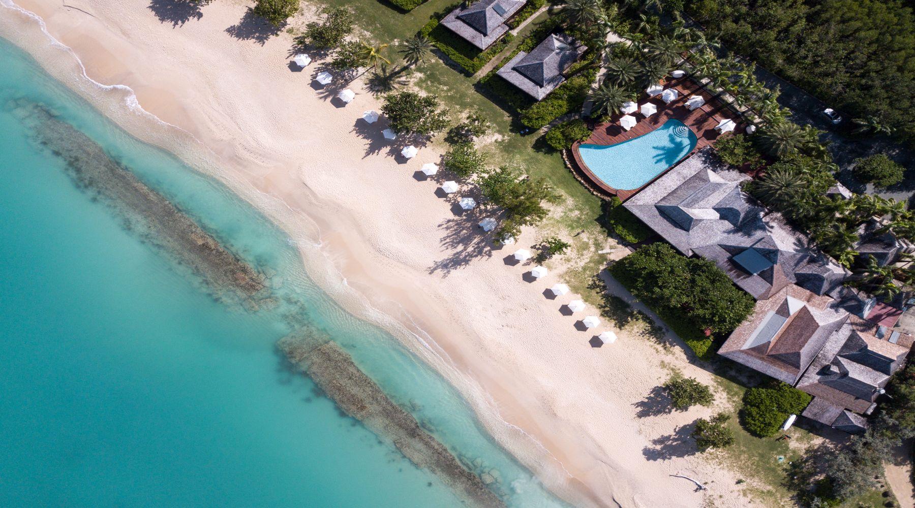 Hermitage Bay, Antigua, Karaiby