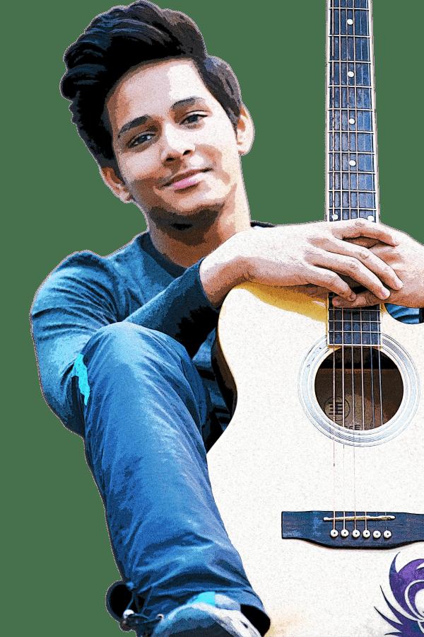 Shreyas Paul and his guitar..