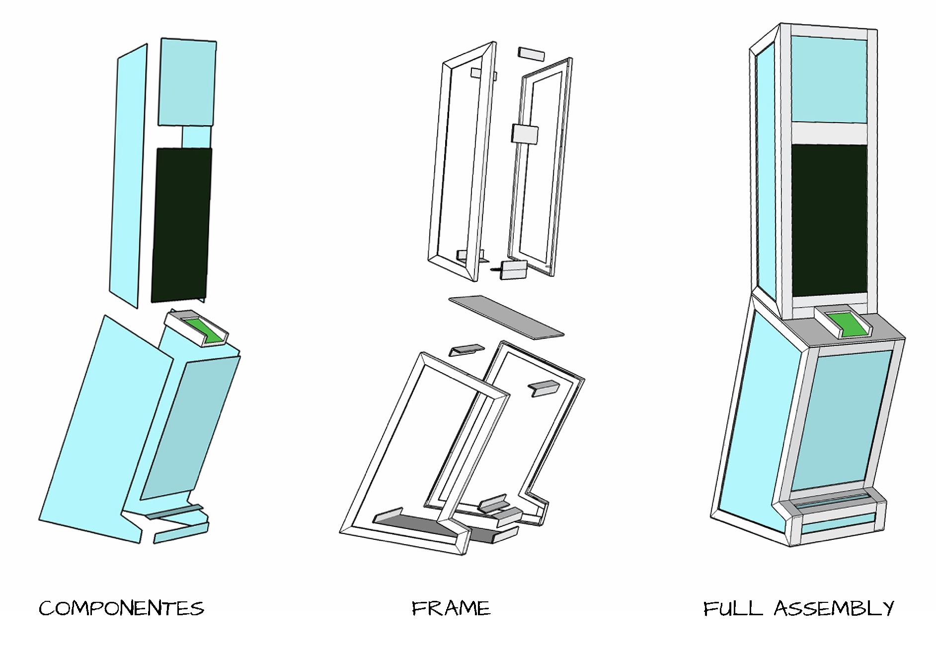 construction drawings for kiosk
