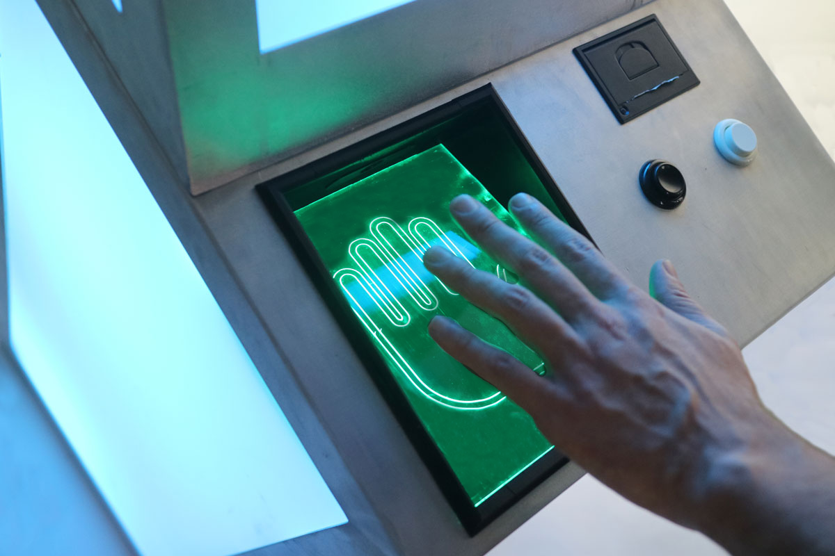 image of palm scanner