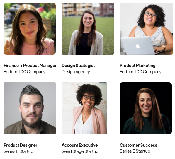 6 people in different roles in tech