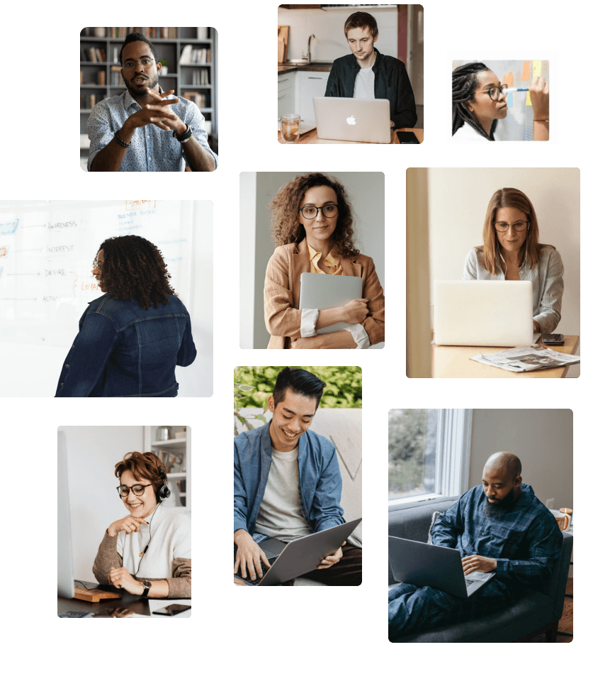 images of people working
