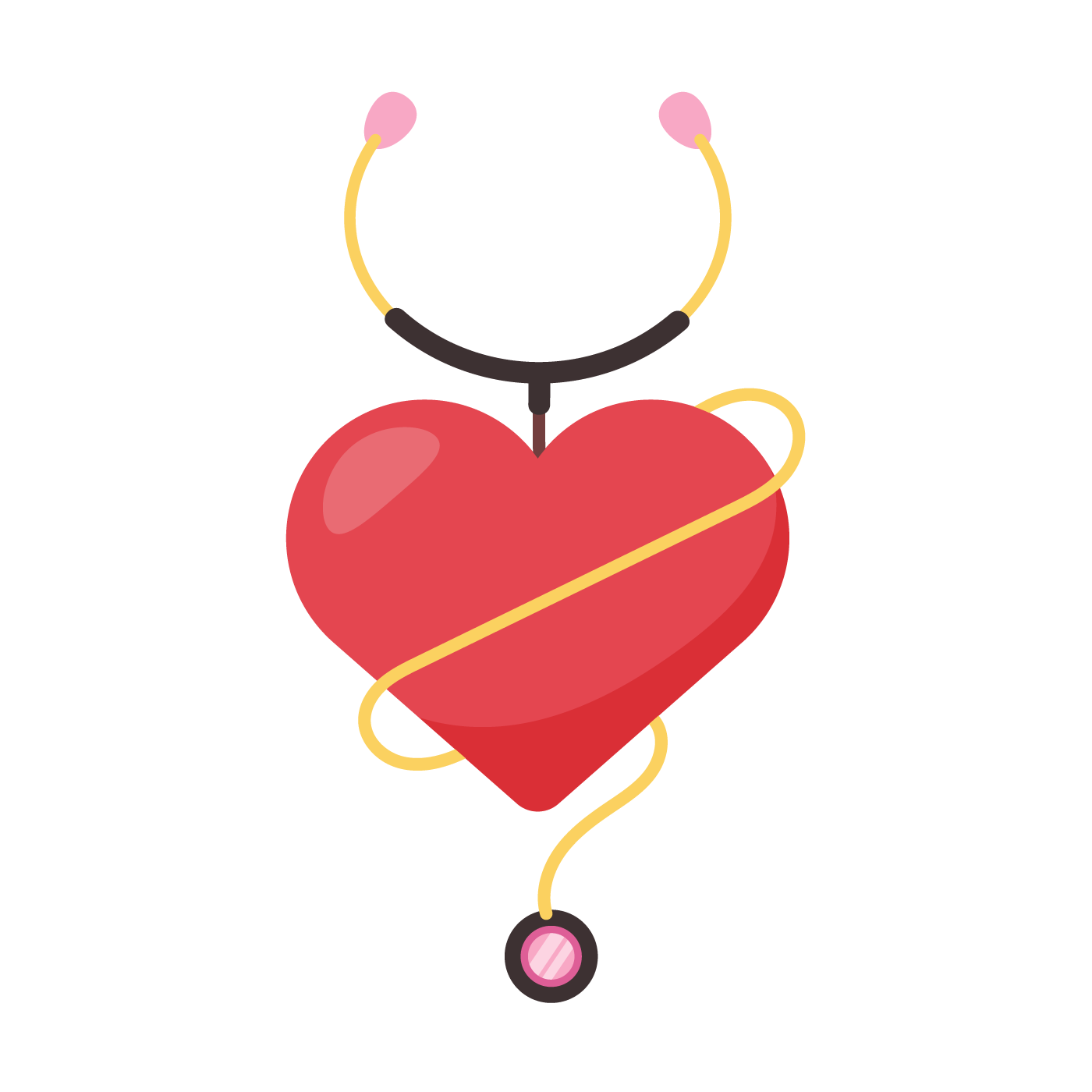 A heart stethoscope to indicate trust