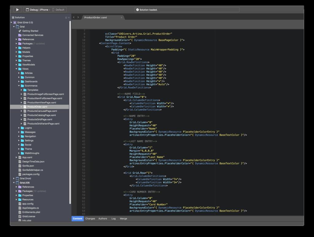 Grial UI Kit Xamarin.Forms XAML