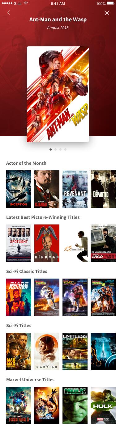 Movies Main Page Xamarin.Forms XAML