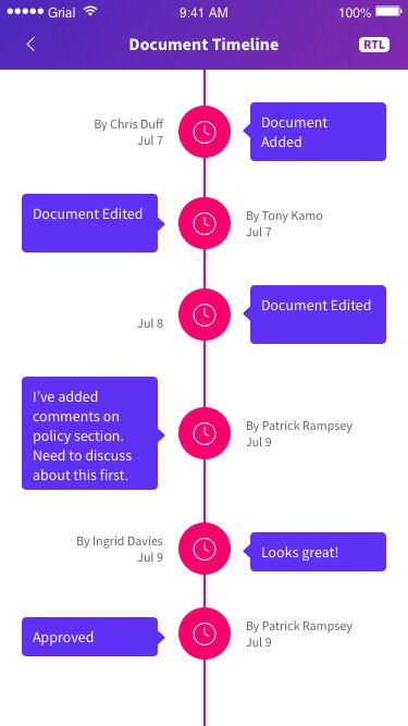 Document Timeline Page Xamarin.Forms XAML