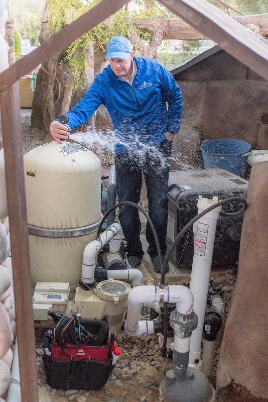 John Butler working pool maintenance