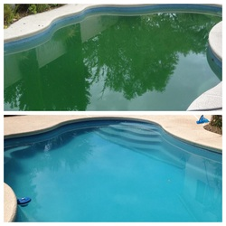 Before and After of a dirty pool