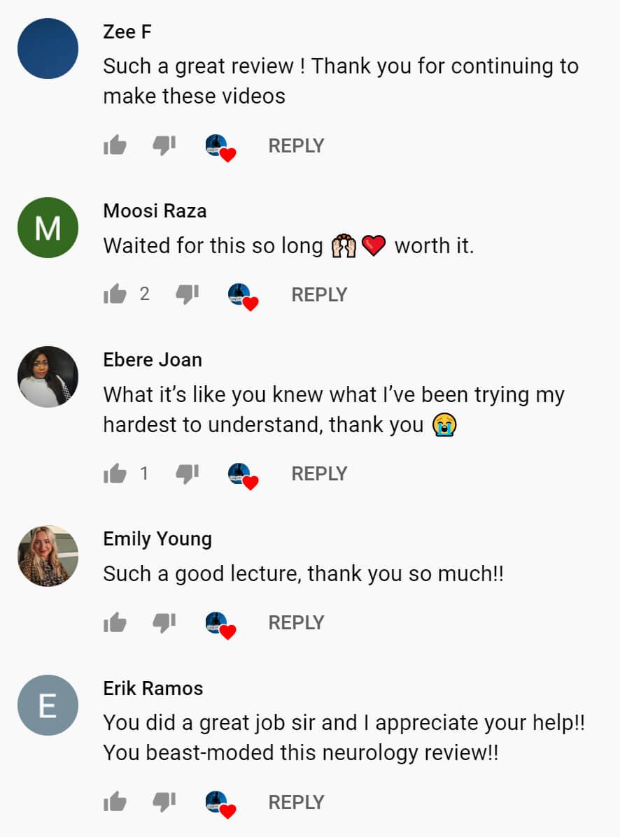 YouTube testimonials for Dr. Anthony Roviso