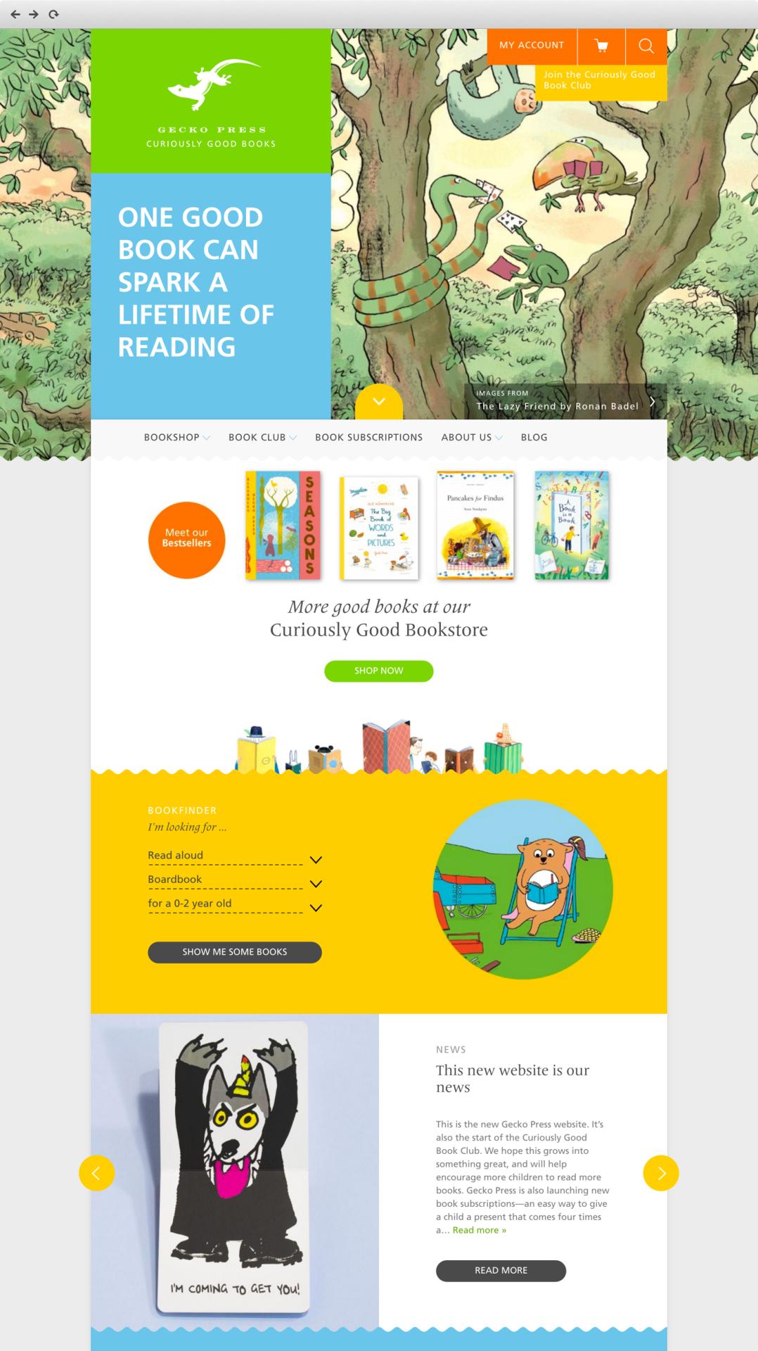client work example - children's books