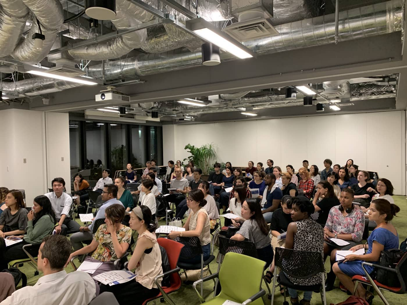 """A """"WTF is JavaScript"""" meetup in 2019 at Global Business Hub Tokyo."""